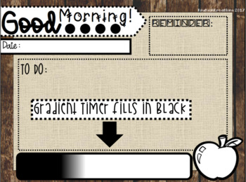 EDITABLE {rustic} Morning Message Templates WITH TIMERS