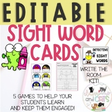 EDITABLE Back to School sight word cards & BONUS Write the