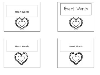 EDITABLE sight word ring set