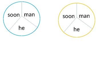 EDITABLE sight word spinners!