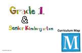 EDITABLE - spiraled SK/1 Curriculum Map for Ontario math