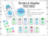 EDITABLE tags and banner-Mason jars, succulents and waterc