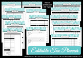EDITABLE tax planner, financial organizer, money, reimbursement, tax deductions