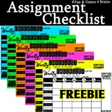 EDITABLE weekly assignment checklist FREEBIE!