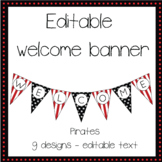 EDITABLE welcome banner pirate theme