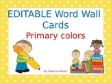 EDITABLE word wall cards