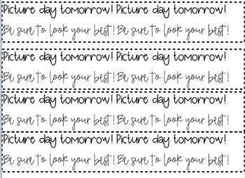 EDITABLE wristband reminders