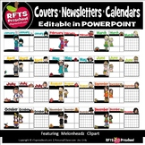 *MELONHEADZ CLIPART - MONTHLY EDITBLE PRODUCT COVERS- NEWSLETTERS - CALENDARS