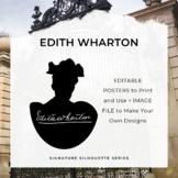 EDITH WHARTON Signature Silhouette Posters