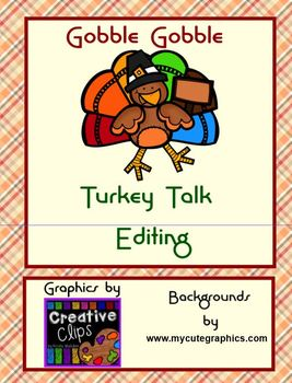 EDITING Language Skills Turkey Talk