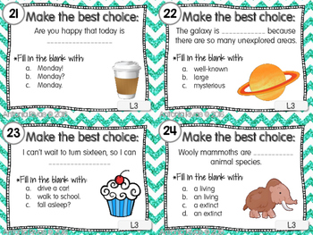 EDITING Task Cards {28 cards aligned to L.1, L.2 and L.3}