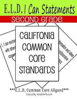 EDL I CAN Statements Second Grade California Common Core S
