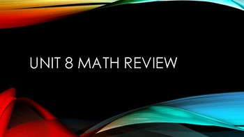 EDM 4 Fourth Grade Unit 8 Math Assessment Review
