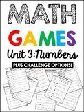 EDM 4 Unit 3 Math Games - 1st Grade