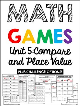 EDM 4 Unit 5 Math Games - 1st Grade