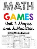EDM 4 Unit 7 Math Games - 1st Grade