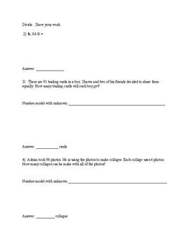 EDM 4th Grade Unit 6 Study Guide