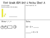 EDM First Grade Unit 6 Review Sheets