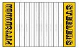 EDM Football Game Board Steelers