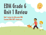 Everyday Math Grade 6 Unit 1 Review