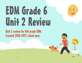 Everyday Math Grade 6 Unit 2 Review