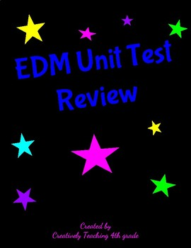 EDM Unit 1 test review/EDM Unit 1 Study guide/Everyday Math 4th grade