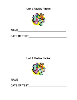 EDM Unit 2 Review Packet for 3rd Grade