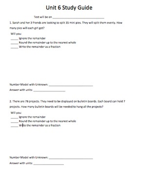 EDM Unit 6 Study Guide