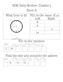 EDM first grade Unit 3 Review Sheets
