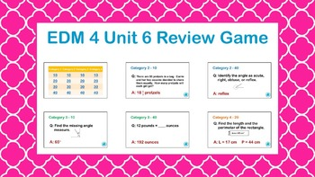 EDM4 - 4th Grade- Unit 6 Review Game