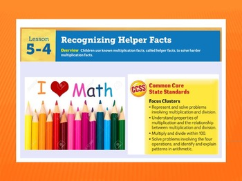 EDM4 (Everyday Math 4) Grade 3 Lesson 5.4 Smart Notebook Presentation
