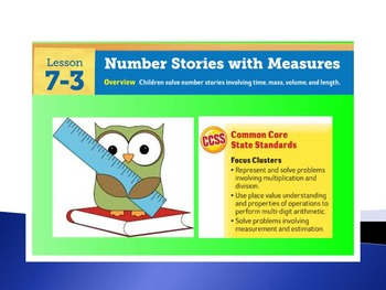 EDM4 (Everyday Math 4) Grade 3 Lesson 7.3 Smart Notebook P