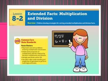 EDM4 (Everyday Math 4) Grade 3 Lesson 8.2 Smart Notebook Presentation