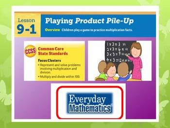 EDM4 (Everyday Math 4) Grade 3 Lesson 9.1 Smart Notebook P