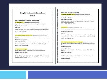 EDM4 (Everyday Math 4) Grade 3 Units 1-9 Lesson Plan BUNDLE