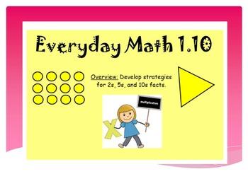 EDM4 (Everyday Math 4) Grade 3 Lesson 1.10 Smart Notebook Presentation