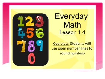 EDM4 (Everyday Math 4) Grade 3 Lesson 1.4 Smart Notebook Presentation