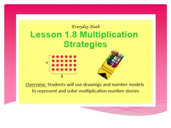 EDM4 (Everyday Math 4) Grade 3 Lesson 1.8 Smart Notebook Presentation