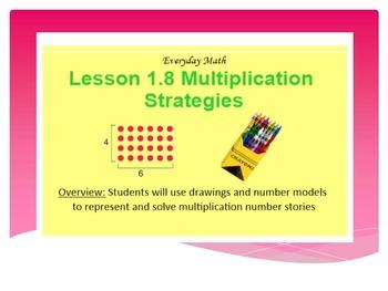 EDM4 (Everyday Math 4) Grade 3 Lesson 1.8 Smart Notebook P