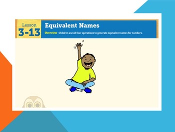 EDM4 (Everyday Math 4) Grade 3 Lesson 3.13 Smart Notebook Presentation