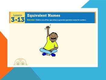 EDM4 (Everyday Math 4) Grade 3 Lesson 3.13 Smart Notebook