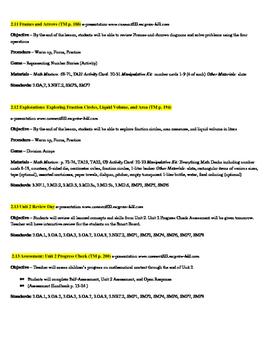 EDM4 (Everyday Math 4) Grade 3 Unit 2 Lesson Plans