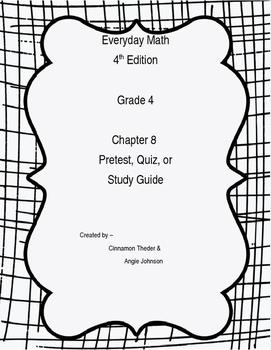 EDM4 Grade 4 Chapter 8 Pretest, Study Guide