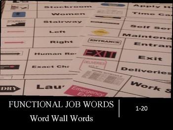 Functional Job Words Word Wall Words (1-20)