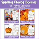 EDITABLE Fall and Autumn Spelling Choice Menu Bundle