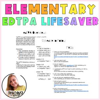 EDTPA LIFE SAVER ELEMENTARY LITERACY