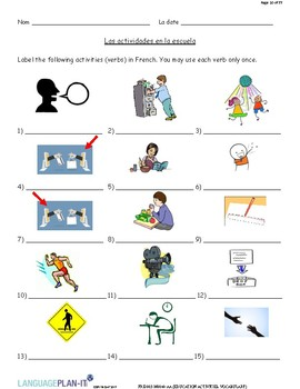 EDUCATION ACTIVITIES, VOCABULARY (FRENCH)