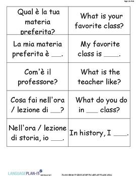 EDUCATION FLASHCARDS (ITALIAN)