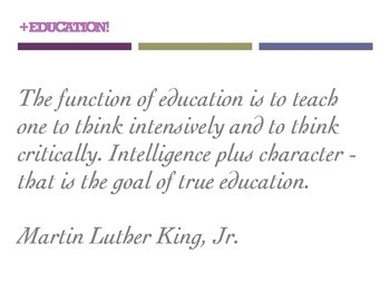 EDUCATION QUOTES (8.5 x 11 posters)