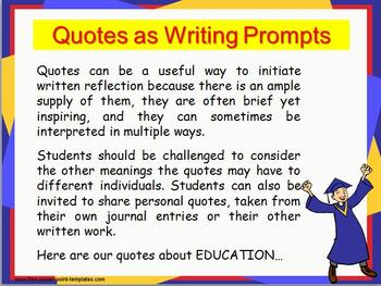 EDUCATION Quotes Writing Practice: RACE Strategy W 8.2